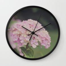 Hortensias Wall Clock