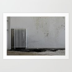 LOST PLACES - pissing radiator Art Print