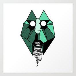 geometric tribal mask Art Print
