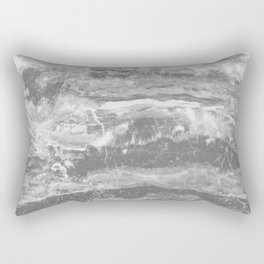 Real Gray Marble Rectangular Pillow