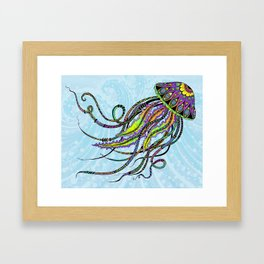 Electric Jellyfish Framed Art Print