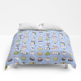 Happy kawaii sushi pattern Comforters