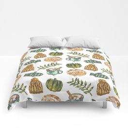 Watercolor Winter Objects Comforters