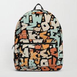 graffiti pattern - colorful letter Design   Backpack