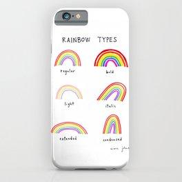 rainbow types iPhone Case