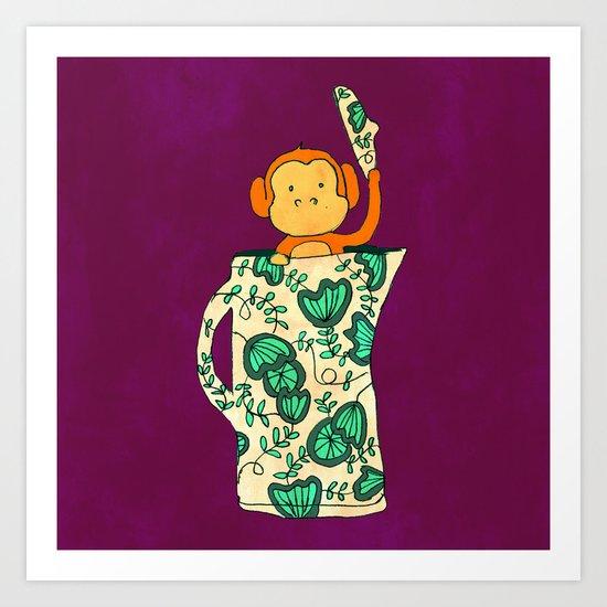 Dinnerware sets - Monkey in a jug Art Print