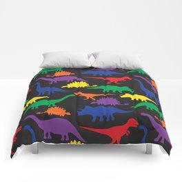 Dinosaurs - Black Comforters