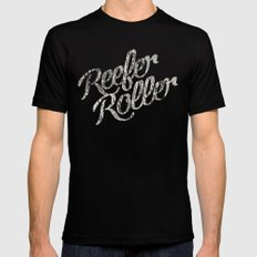 Reefer Roller MEDIUM Mens Fitted Tee Black