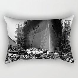 USS Arizona, Navy Yard, New York Rectangular Pillow