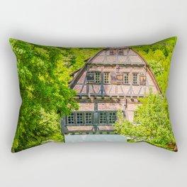 Klosterhof Blaubeueren ( Half-timbered House ) Rectangular Pillow
