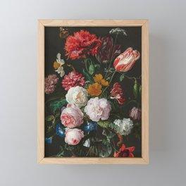 Still Life with Flowers by Jan Davidsz. de Heem Framed Mini Art Print