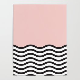 Waves of Pink Poster