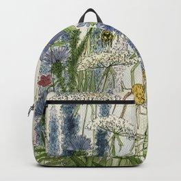 Wildflowers 2 watercolor Backpack