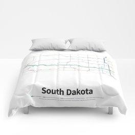 Highways of the USA – South Dakota Comforters