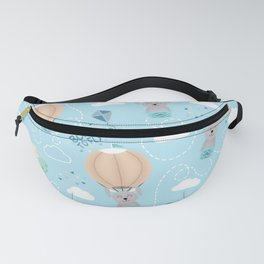 Born to fly bunny pattern Fanny Pack