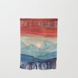 Lines in the mountains IV Wall Hanging