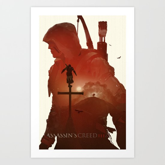 Assasins Creed 3 Art Print