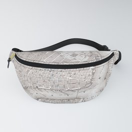 Vintage New York City Map Fanny Pack