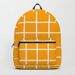GRID DESIGN (WHITE-ORANGE) Backpack
