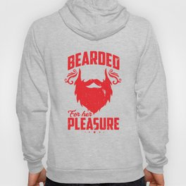 Bearded For Her Pleasure Beard Men Beards Mustaches Lovers Gift Hoody