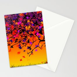 The Scent Of Halloween Autumn Tree Stationery Cards