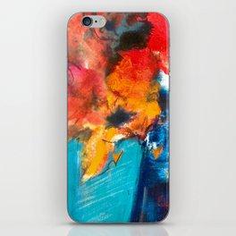 Bright Cobalt and Orange Floral  iPhone Skin