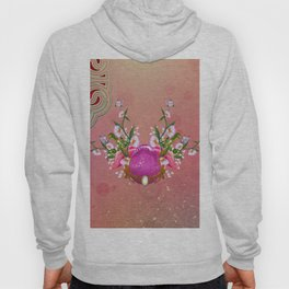 Happy easter, easter egg with flowers Hoody