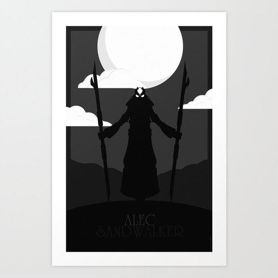 Alec Sandwalker Art Print