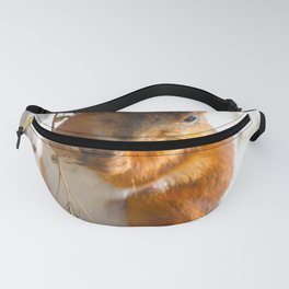 Lovely Mommy Squirrel Portrait Fanny Pack