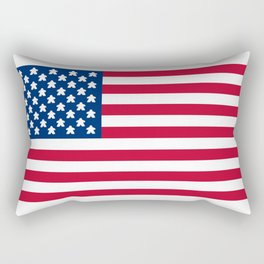 Flag Of The United Meeples Rectangular Pillow