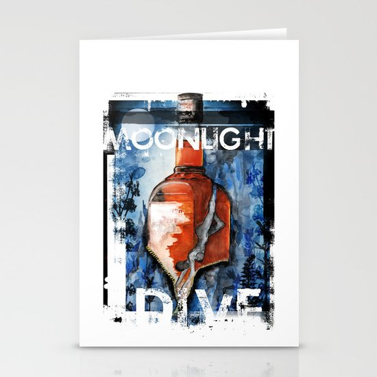 MOONLIGHT DIVE Stationery Cards