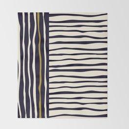Zebra style animal print pattern Throw Blanket