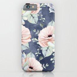 Night Succulents Navy iPhone Case