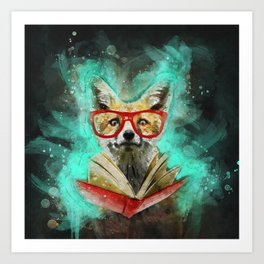 Fox Reader Art Print