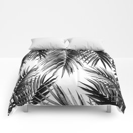 Palm Leaf Jungle Vibes #3 #tropical #decor #art #society6 Comforters