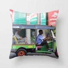 Tuk Tuk Throw Pillow