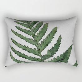 Botanical Forest Sage Green Vintage Leaf Fern, Watercolor Wall Art Farmhouse Rustic Country Nature Rectangular Pillow