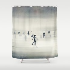 floating on light Shower Curtain
