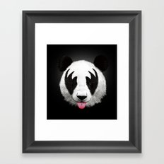 Kiss of a panda Framed Art Print