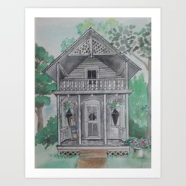 """Small house, big hearts"" Art Print"