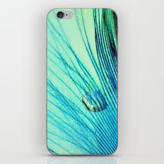 Feather And Water Blue iPhone & iPod Skin