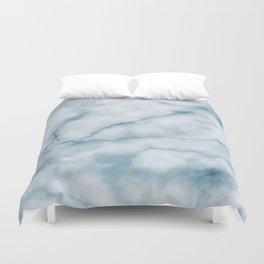 Light blue marble texture Duvet Cover