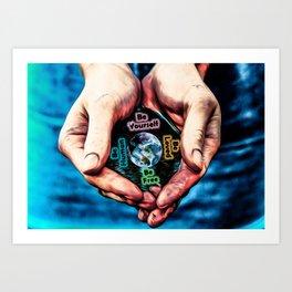 Advent Guard Earth Heart Art Print