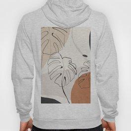 Minimal Abstract Art- Monstera Hoody