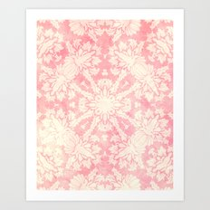 Shabby Arabesque Pattern II Art Print