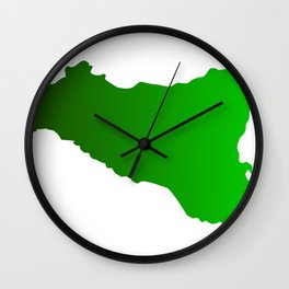 sicilian map Wall Clock