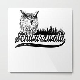 Schwarzwald Eule Metal Print