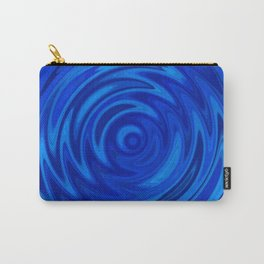 Water Moon Cobalt Swirl Carry-All Pouch