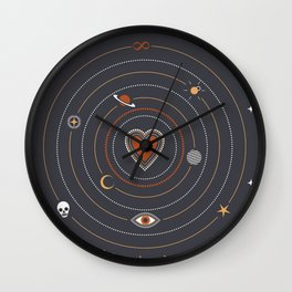 Love Universe Wall Clock