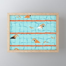 Swimming pool Framed Mini Art Print